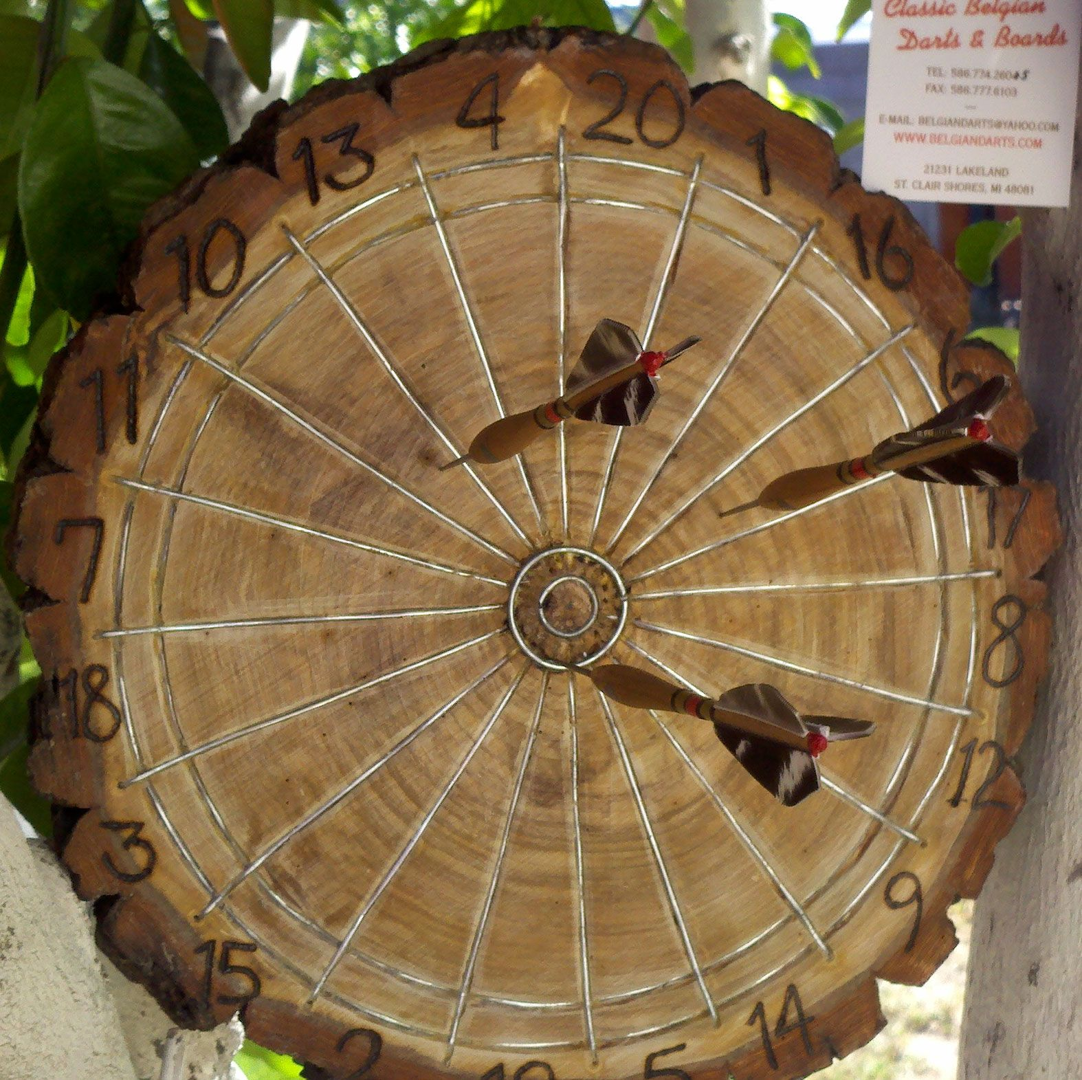 Dart board made from tree round woodworking tips for Ideas to make out of wood