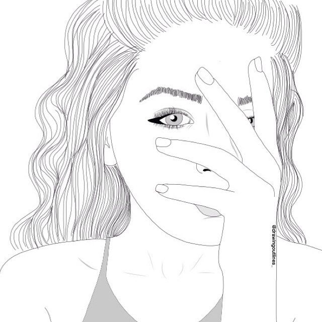 Zoella Line Drawing : Pin by ѕσρнιє в on outline drawings pinterest draw