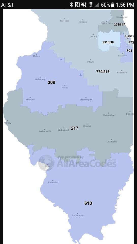 Illinois area codes | Southern illinois, Illinois, Homeland