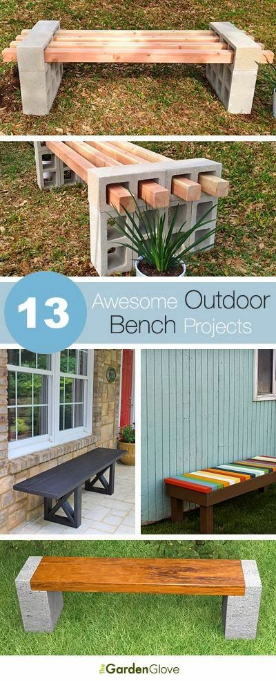 13 awesome outdoor bench projects ideas tutorials outside