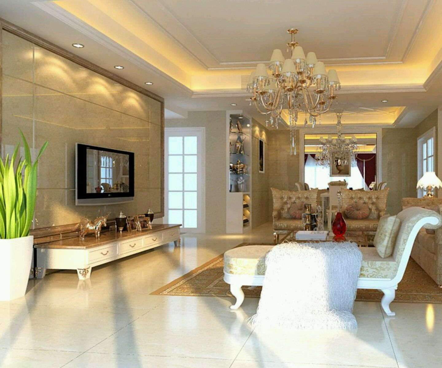 Luxury homes interior decoration living room designs ideas for Luxury house builders