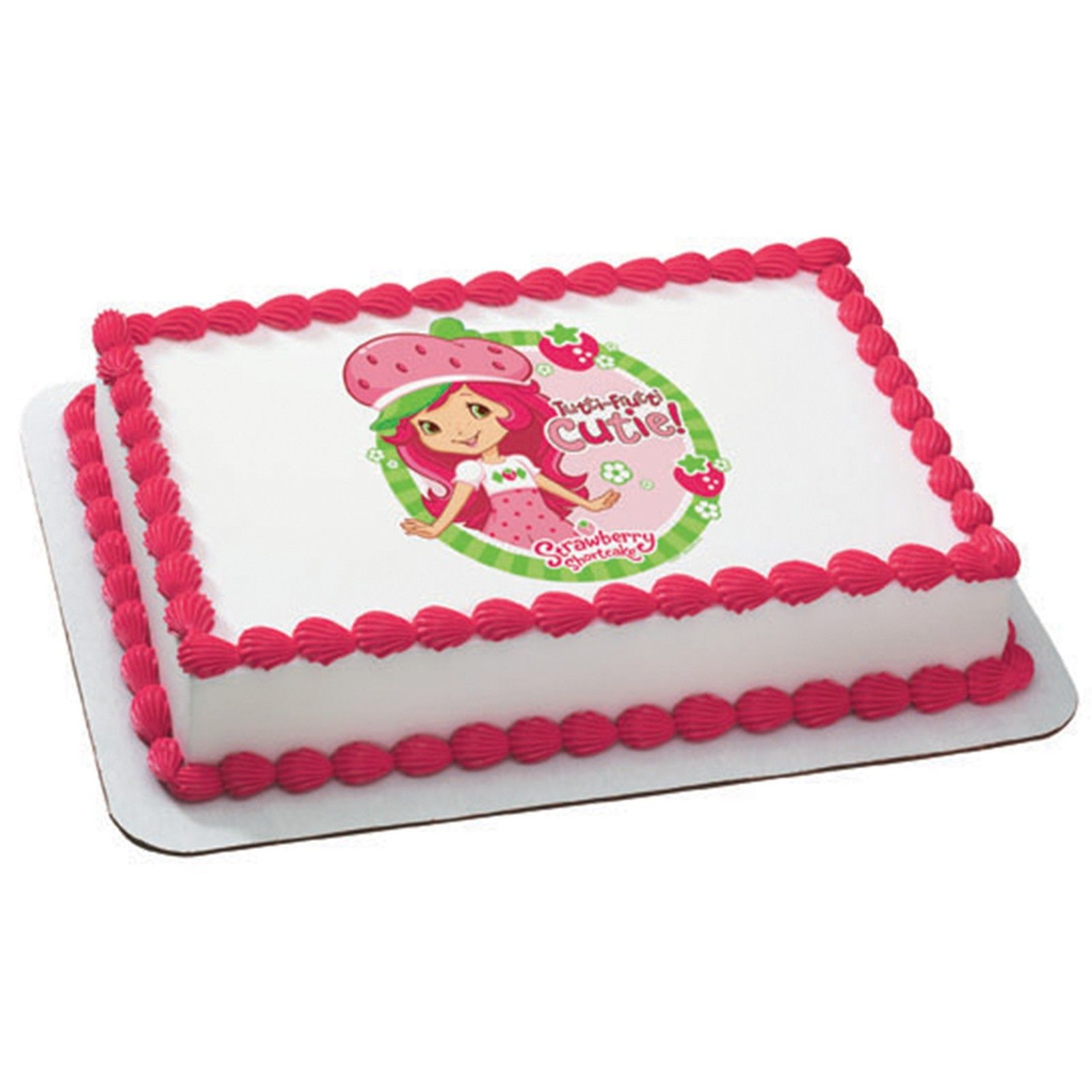 Marvelous Strawberry Shortcake Tutti Fruitti Cutie Edible Image Cake Topper Funny Birthday Cards Online Elaedamsfinfo