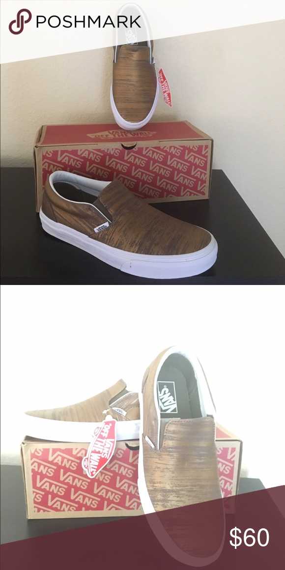 d0c9a57a18 Vans gold brushed Metallic slip on shoes New with box Vans Shoes Athletic  Shoes