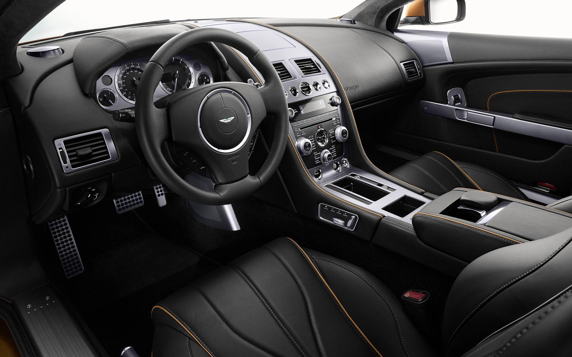 Aston Martin V12 Zagato black leather interior