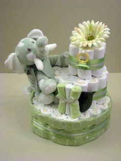 Unisex Nappy Cake Cadeaus Voor Babyshowers Baby Luier Taarten