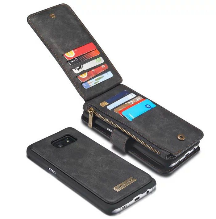 5aa7bf8e87a CaseMe Vintage Multifunctional Wallet Genuine Leather Case For Samsung  Galaxy S7 Edge