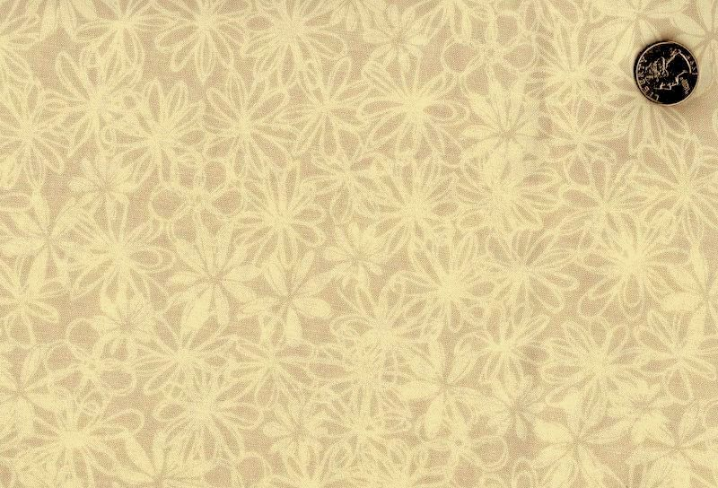 Cotton Quilt Fabric Cream Taupe Packed Floral Tone On Tone ... : white tone on tone quilt fabric - Adamdwight.com