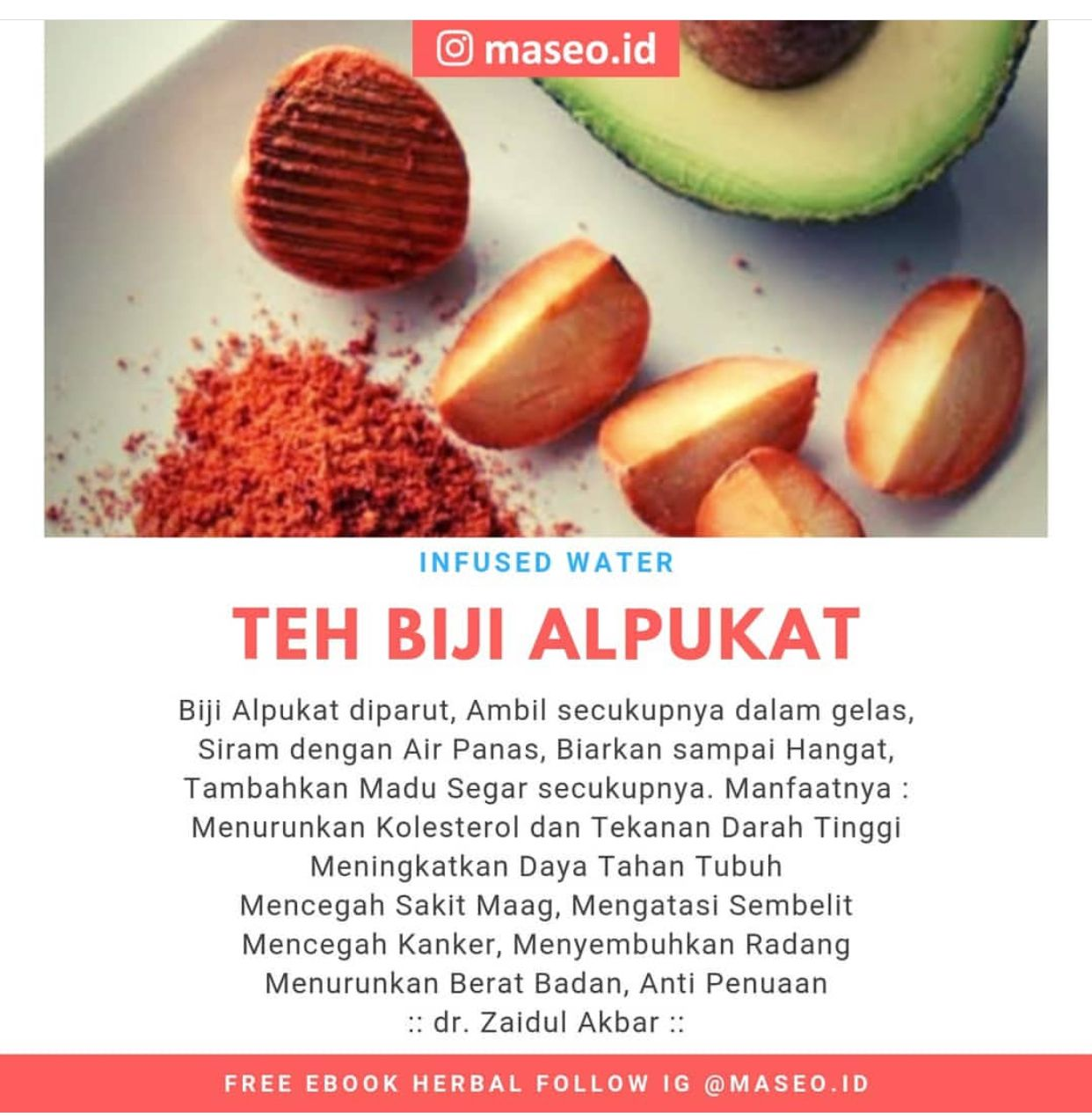 Teh Biji Alpukat Resep Diet Sehat Resep Diet Kesehatan Alami