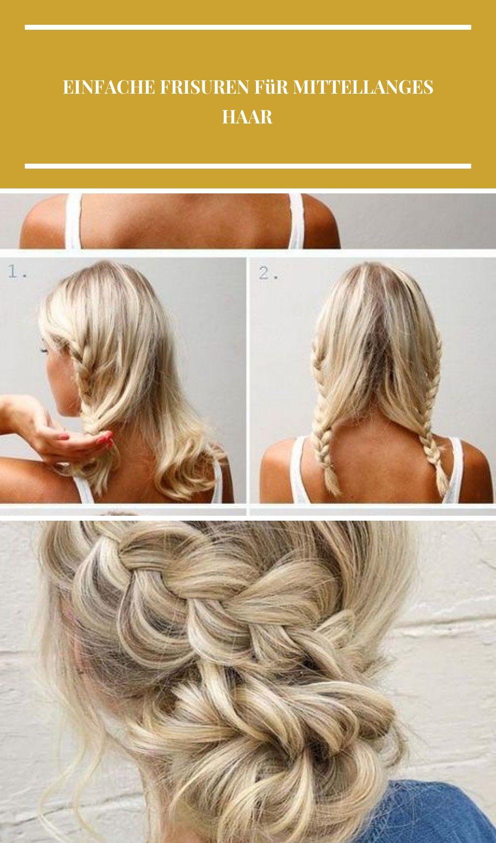 Einfache Frisuren für mittellanges Haar diy hair style Einfache Frisuren für mittellanges Haar