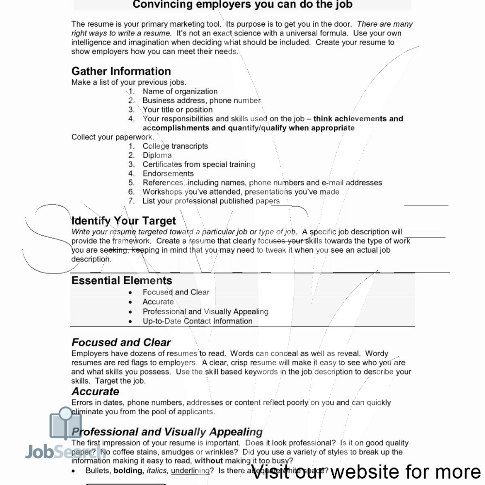 Making Your First Resume 2020 Making Your First Resume