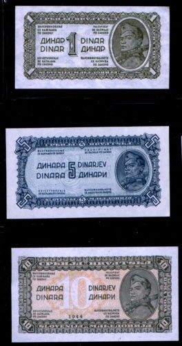 Banknote yugoslavia p48a p49b p50a 1 5 10 dinar banknotes crisp banknote yugoslavia p48a p49b p50a 1 5 10 dinar banknotes crisp uncirculated as per scan m4hsunfo