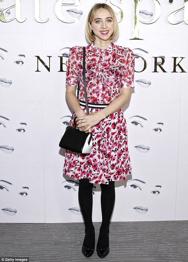 Hell petal: Meanwhile Zoe Kazan looked lovely in a rose printed button-down dress in pink,...