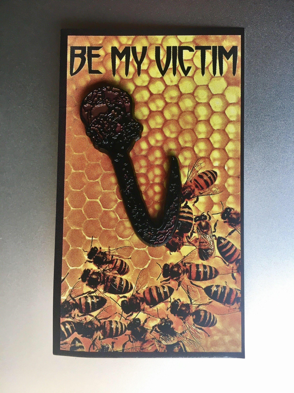 BE MY VICTIM Horror enamel pin   Enamel pins, Soft enamel ...