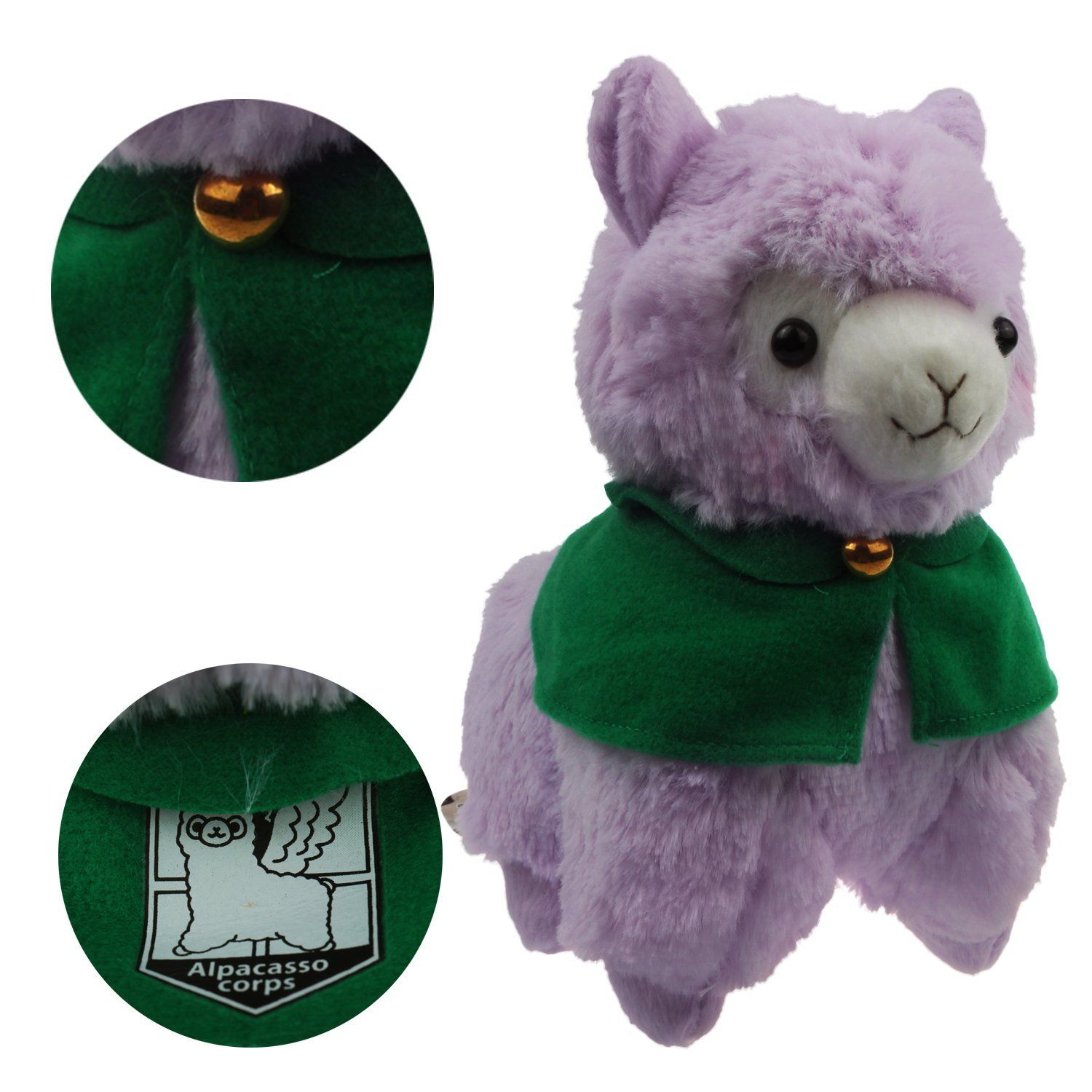 Amazon.com: KSB 7.3'' Purple Cloak Plush Alpaca,Cute Soft Plush Stuffed Animals Doll Toys,Best Birthday Gifts For The Children Kids: Toys & Games