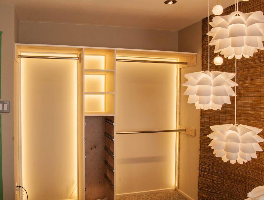 We Build A Custom Boutique Closet Closet Lighting Diy Small Room Lighting Led Closet Light