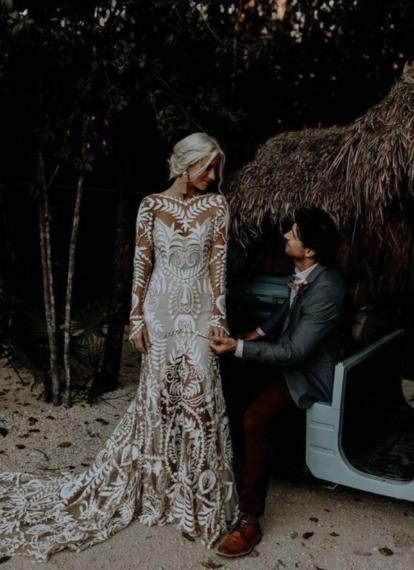 Unique Prom Dresses, Fashion wedding dress , unique bridal gown #bohoweddingdress