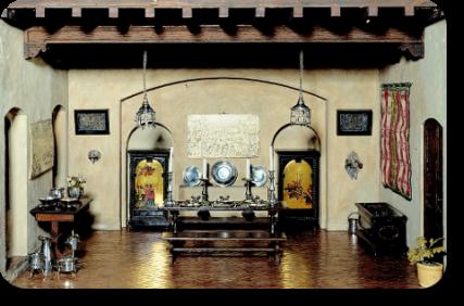 helena rubinsteins spanish dining room replica of an 18th century era room dollhouse miniature room