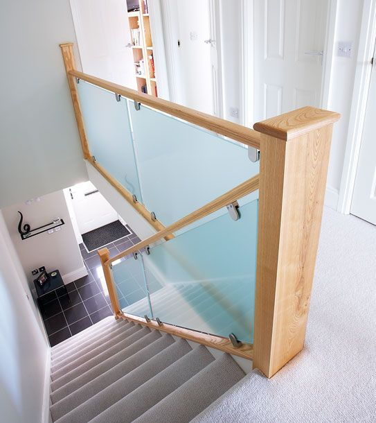 Best Frosted Glass Staircase Staircase Contemporary 400 x 300