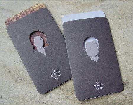 Hairdresser salon pinterest hairdressers business cards and impact salon businessappointment card design by creative suitcase when the appointment card is pulled from the envelope the mans hair is dyed brown reheart Image collections