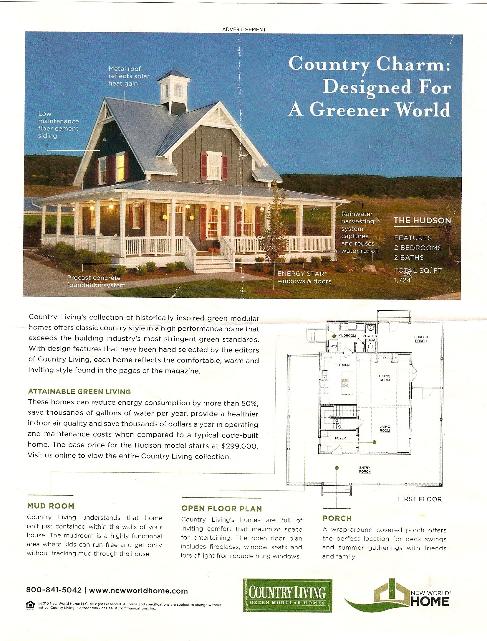 I Found This In An Older Country Living Magazine 2011 At My Hairstylists Shop This Would Be My Dream Country Living Magazine Country House Plans House Plans