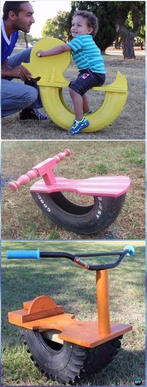 Photo of DIY Tire See Saw Rocking Chair Instructions Video – DIY Old Tire Furniture Ideas…