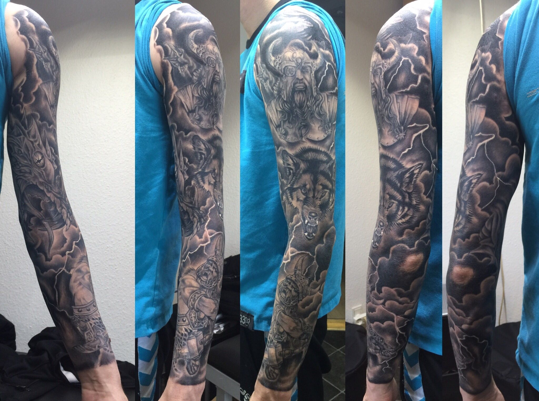 Viking tattoo sleeve                                                       …