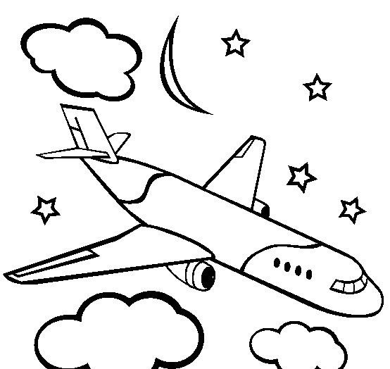 Okul öncesi Uçak Boyama Sayfaları Okul öncesi Etkinlik Faliyetleri