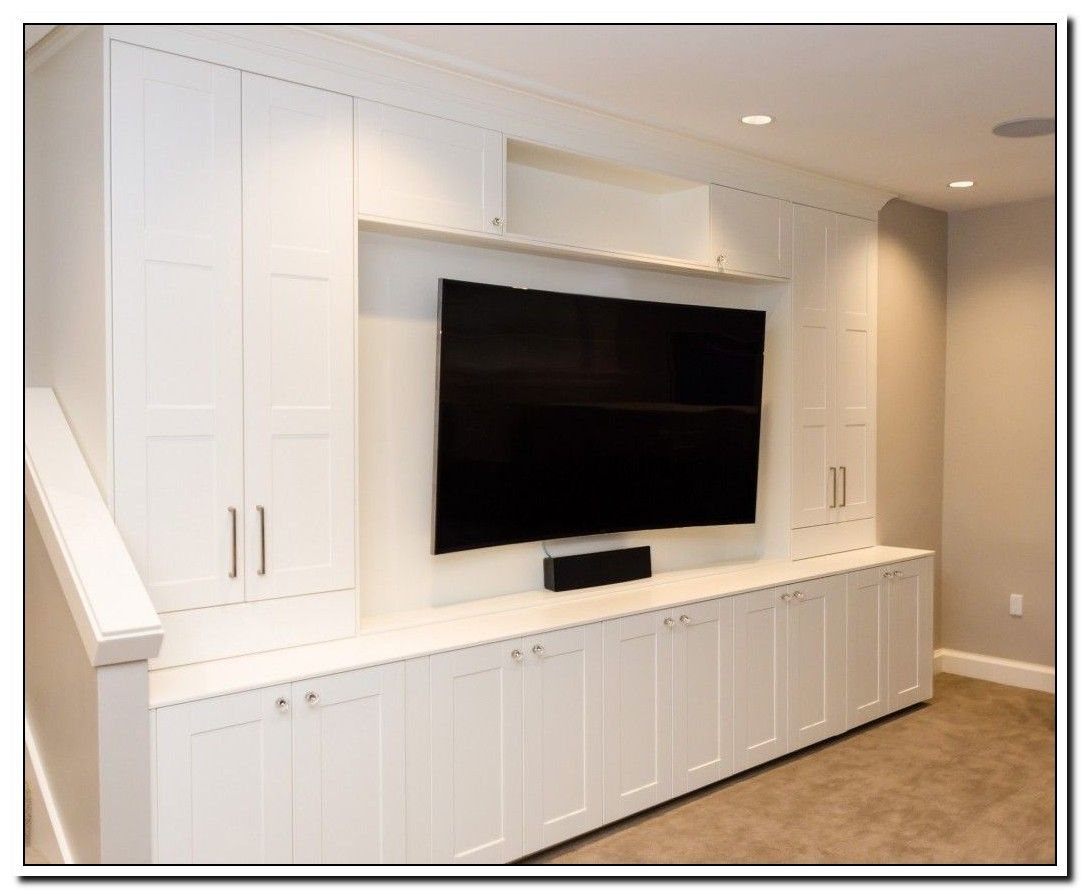 47 Reference Of Tv Stand Hack Kitchen Cabinet In 2020 Built In Entertainment Center Ikea Built In Built In Media Center