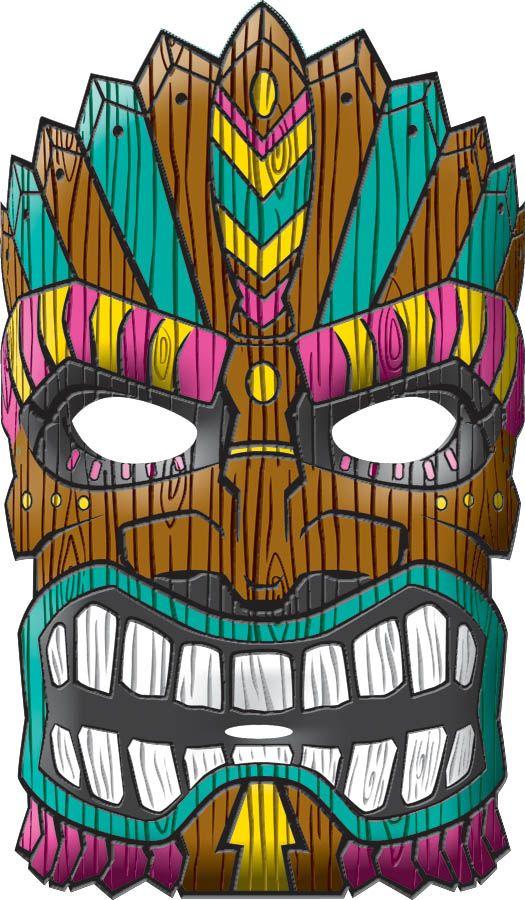 Tiki Mask | Pinterest | Tiki mask, Party masks and Luau party