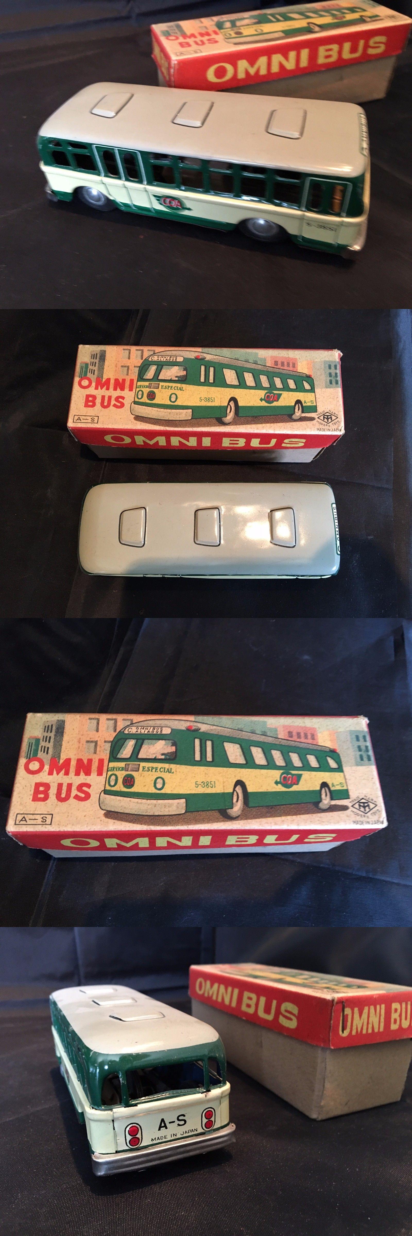 1960 toys images  Vehicles  Vintage Mib Tin Toy Bus Modern Toys Japan  Mega