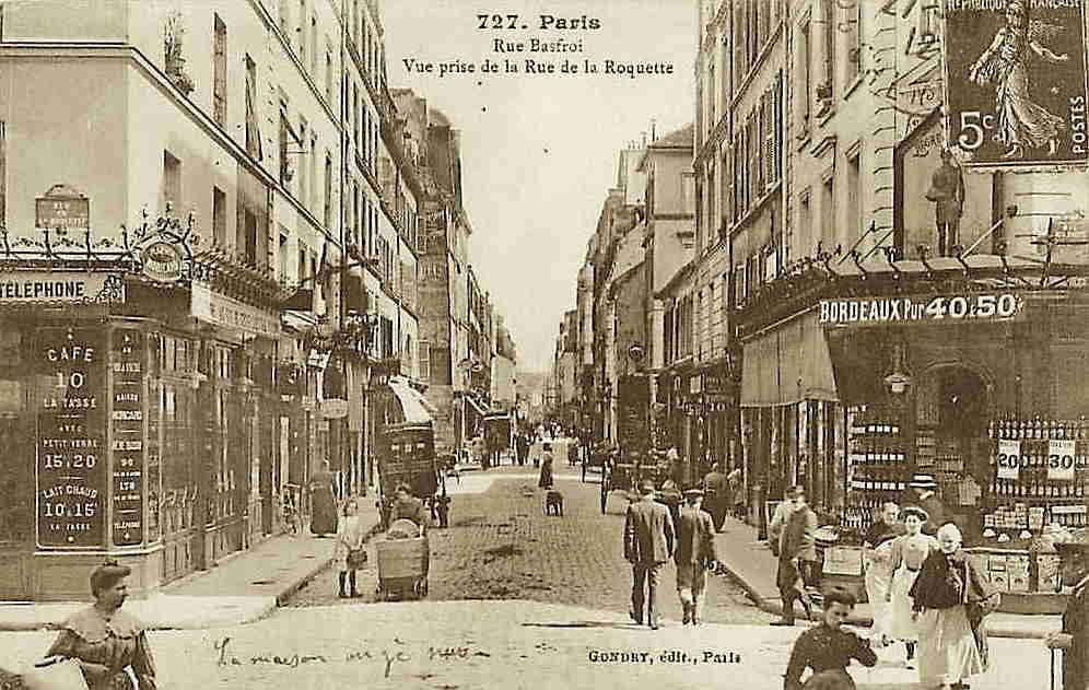 Rue Basfroi Vue De La Rue De La Roquette Paris 11eme Vieux Paris Paris Paris 11eme