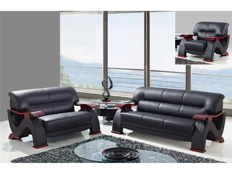 Global Furniture Modern Cappuccino Leather Sofa 2033 (LV CAP S) | Sofas