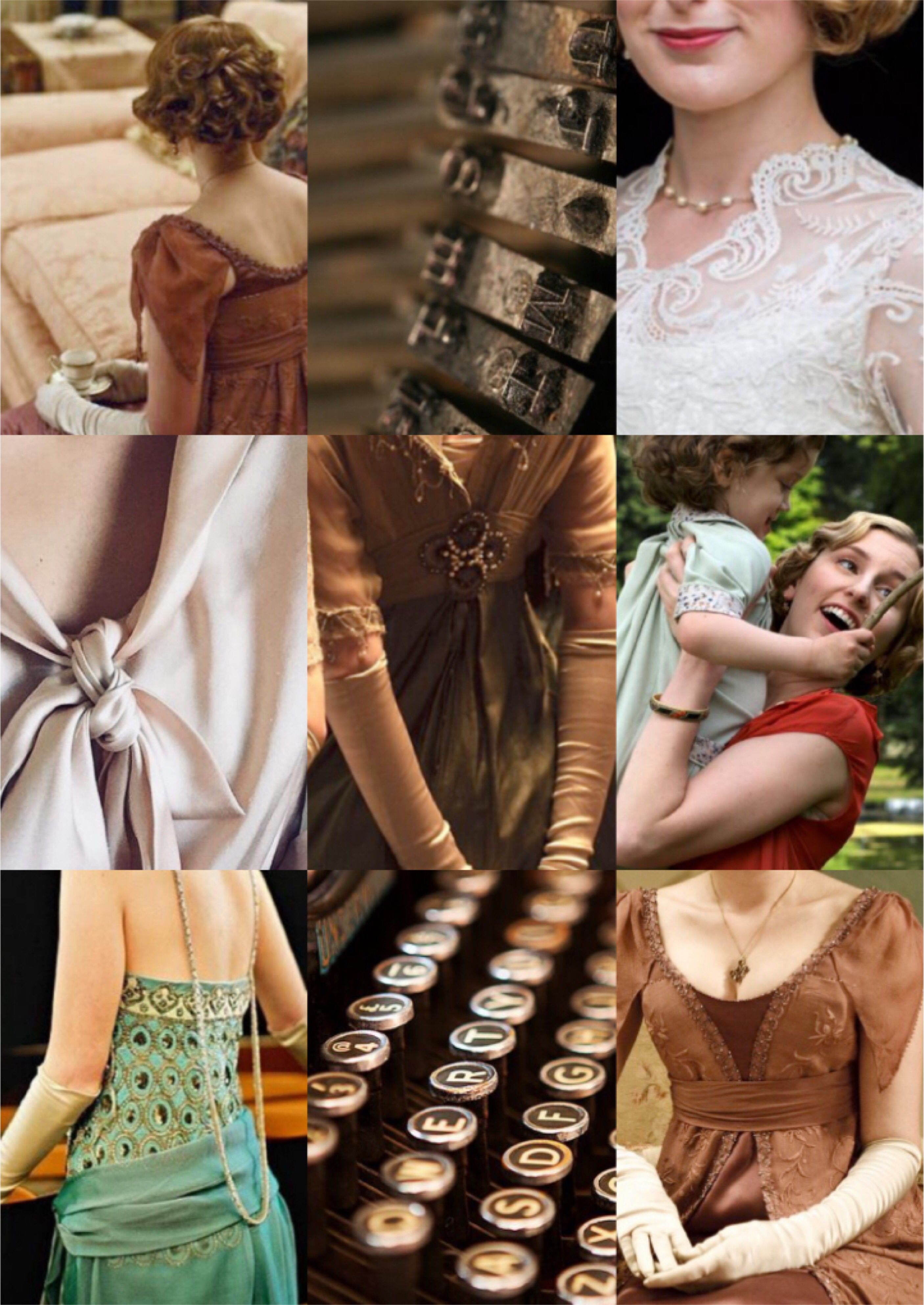 Lady Edith Crawley Downton Abbey Aesthetics Inspiration Mood Board