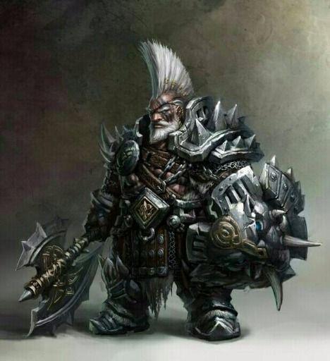 m Dwarf Paladin 17th lvl Plate Armor Sheild Battle Axe fortress underdark mountain eastern ...