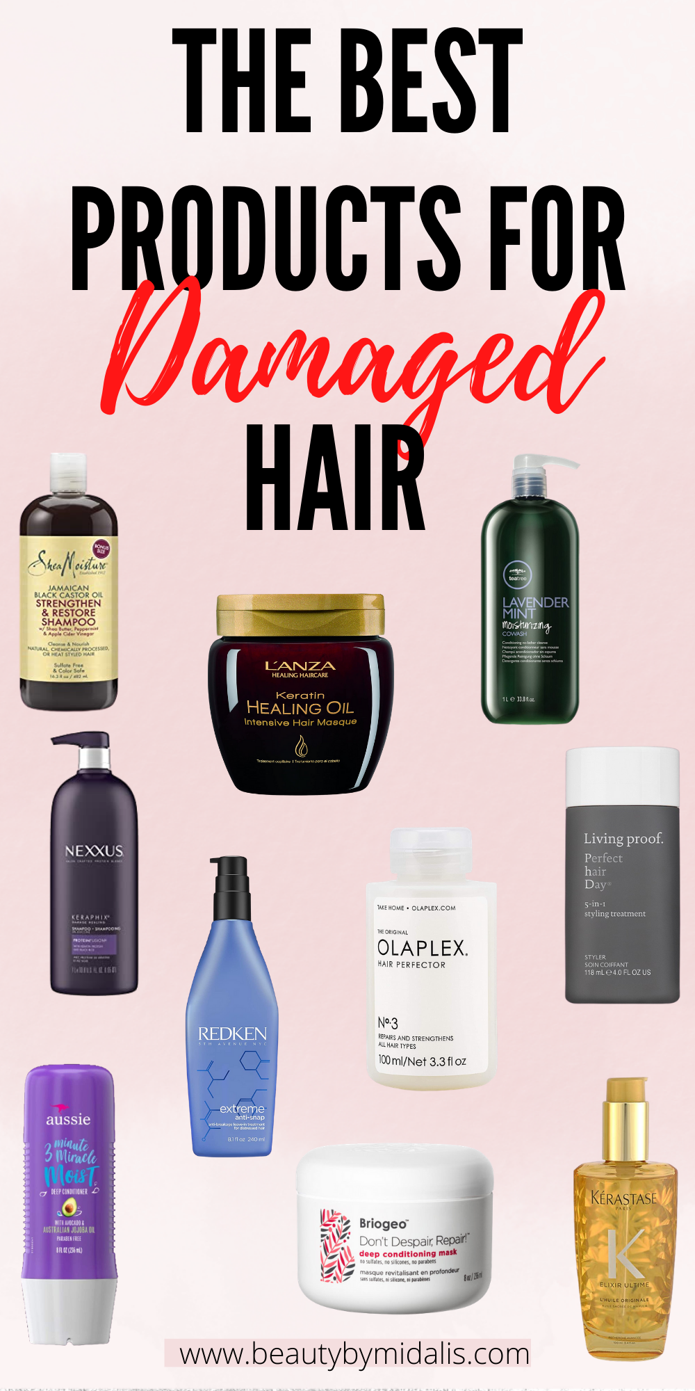 THE BEST PRODUCTS FOR DAMAGED HAIR