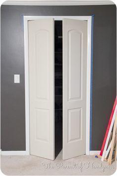 french closet doors diy. Trim Down Bifold Doors Tutorial To French Closet Diy S