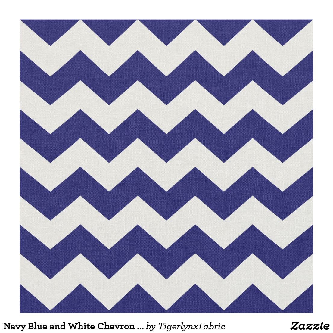 White Chevron Zigzag Pattern Fabric