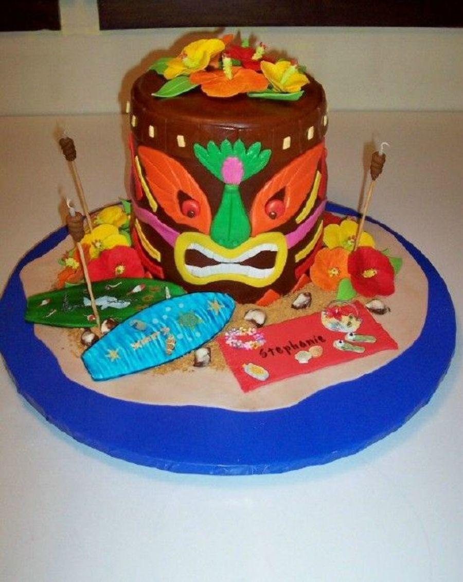 Tiki God Luau Cake on Cake Central