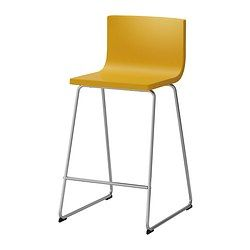 IKEA - BERNHARD, Bar stool with backrest, You sit comfortably thanks ...
