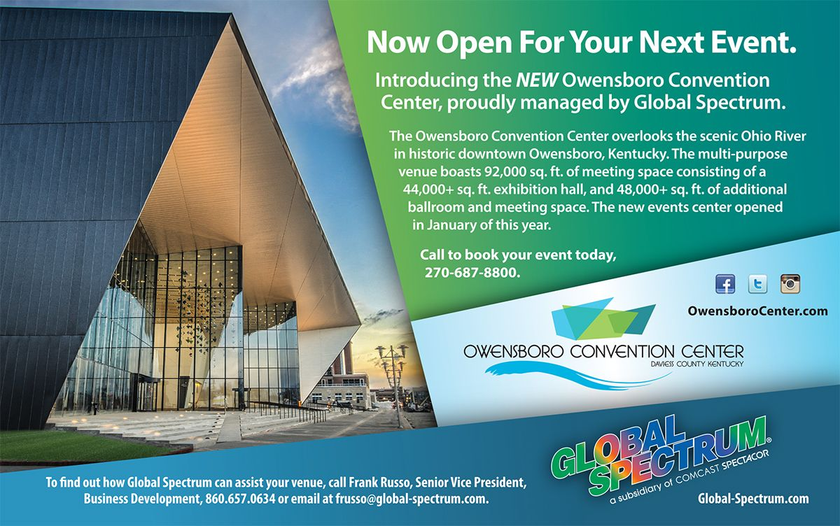 Owensboro convention center and global spectrum coop ad