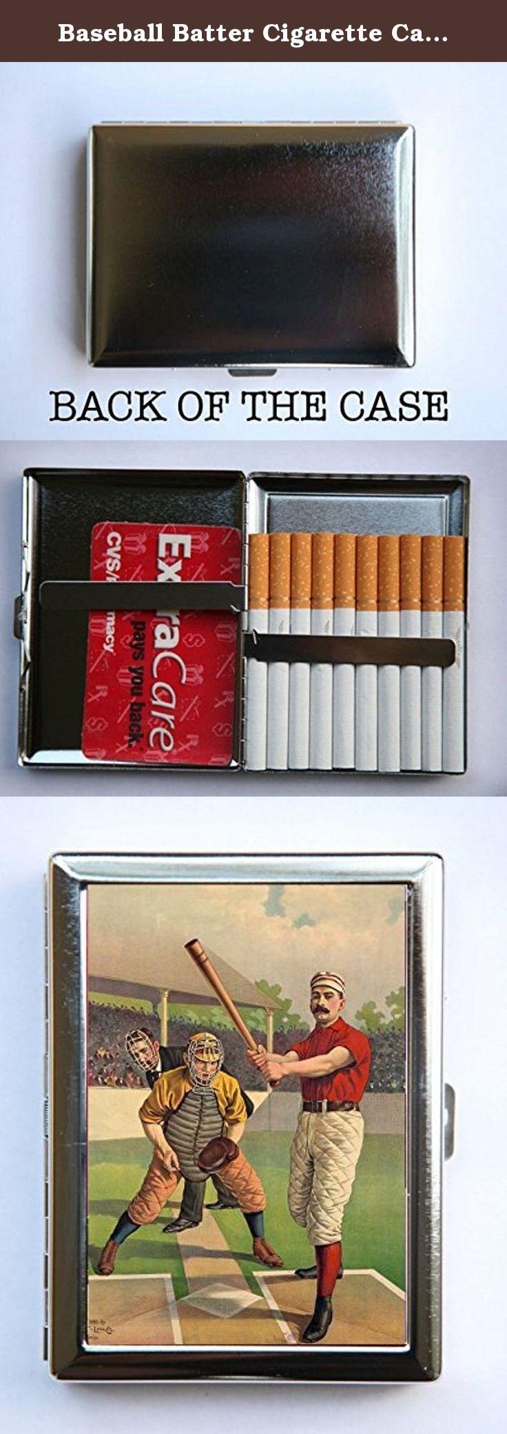Baseball Batter Cigarette Case Wallet Business Card Holder catcher ...