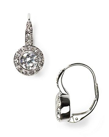 1d7a9f87a Nadri Crystal and CZ Leverback Earrings - Bloomingdale's $45 ...