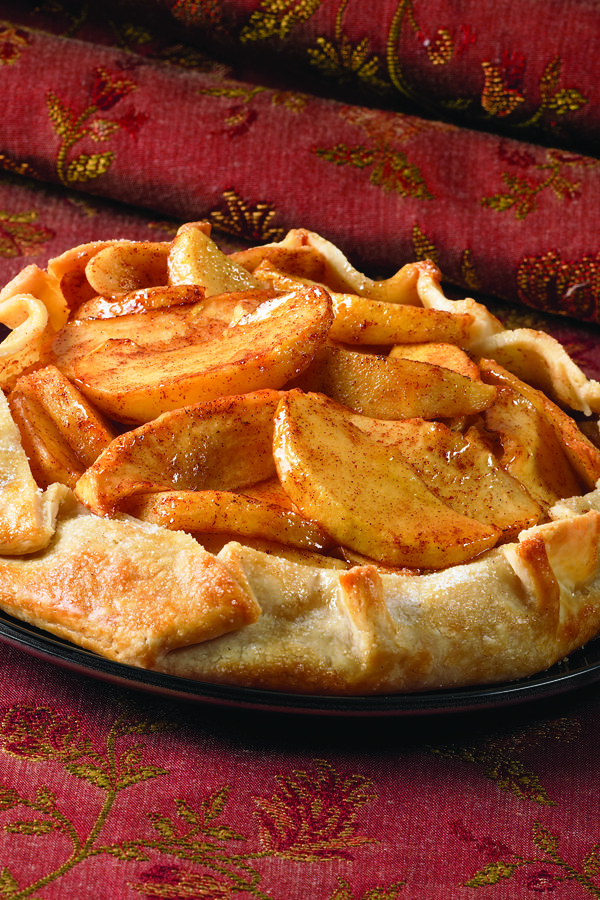This free-form easy apple pie starts with a refrigerated pie crust. Guests will love this classic Thanksgiving dessert filled with warm, cinnamon flavors.