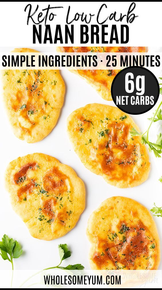Low Carb Keto Naan Bread Recipe | Wholesome Yum