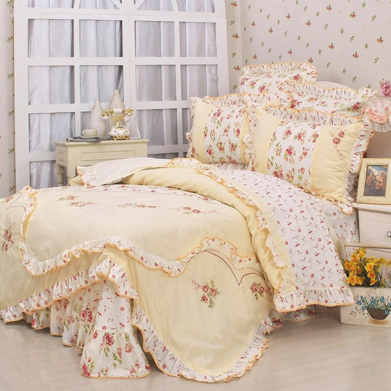 Buy Bed Set: Aliexpress.com : Buy New Arrival Princess Floral Ruffle