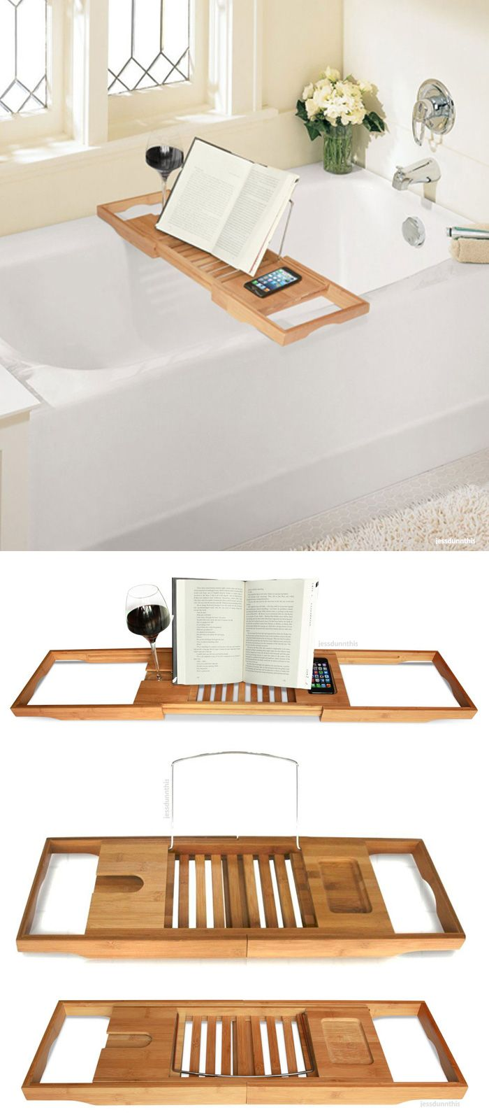 Expandable & adjustable bath caddy fits on any tub! #product_design ...