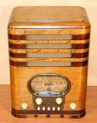 """ZENITH Model 5S-327 """"RACETRACK"""" Art Deco Radio (1937)"""