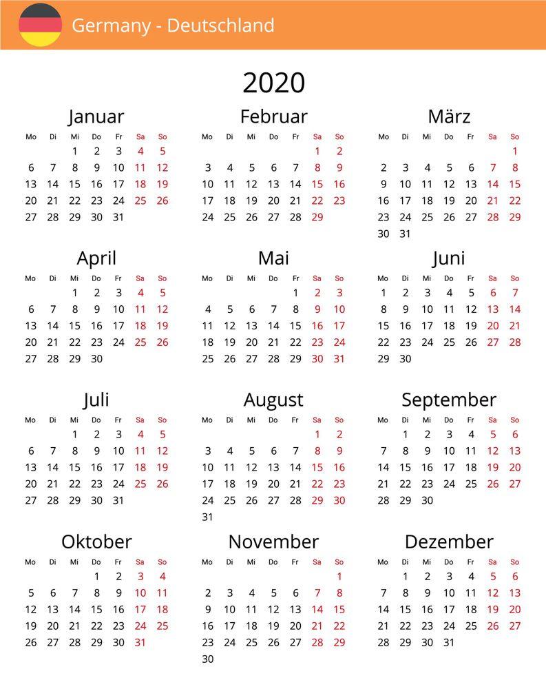 Kostenloser Kalender Deutschland 2020 Kostenlose Kalender Kalender Gratis Kalender