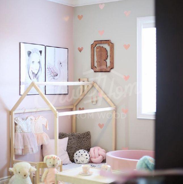 House Bed Children Home Toddler Floor Montessori Nursery Frame Original Baby Design HEADBOARD