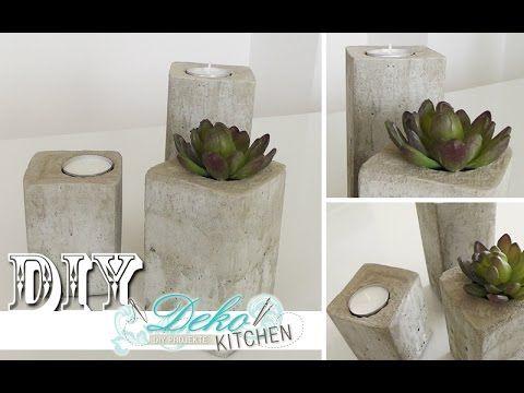 DIY: Stylische Deko-Kerzenleuchter aus Beton einfach selber machen | Dek...